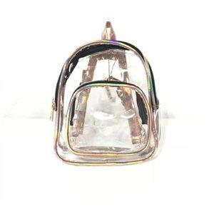 Handbags - Clear Hologram Mini Backpack